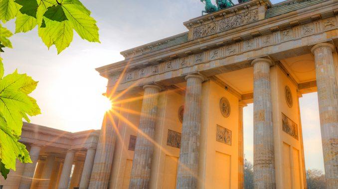 Brandenburg gate at summer, Berlin
